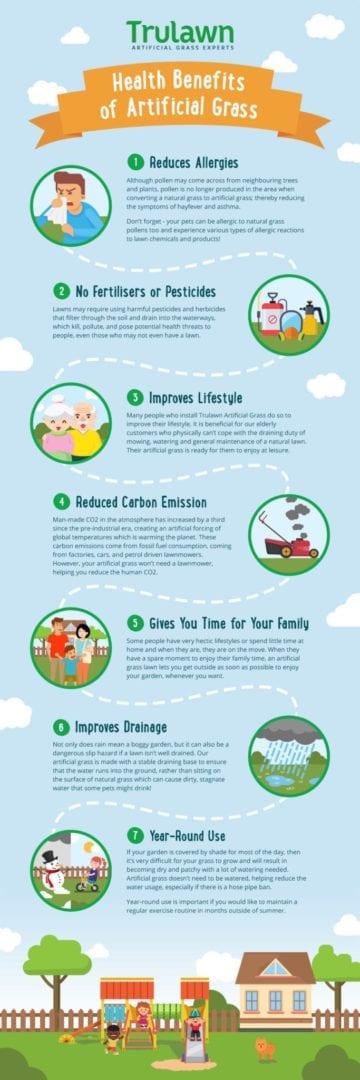 artificial grass health benefits