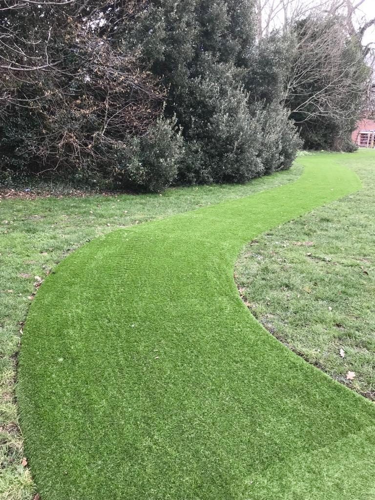 Daily Mile Artificial Field Installation