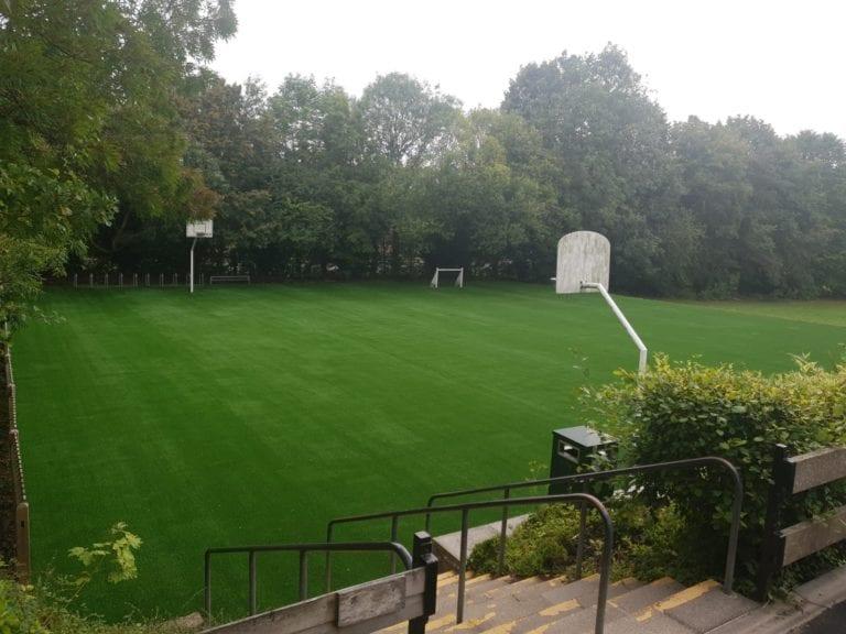 tarmac playground grass makeover