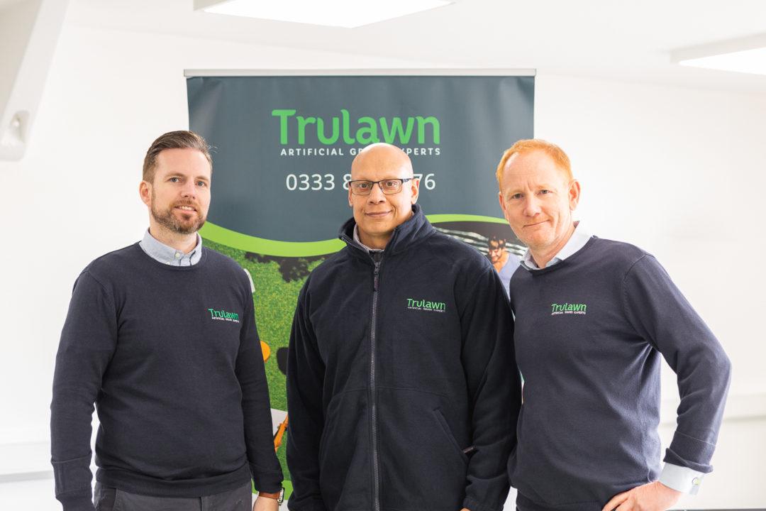 artificial grass installation in Leeds team