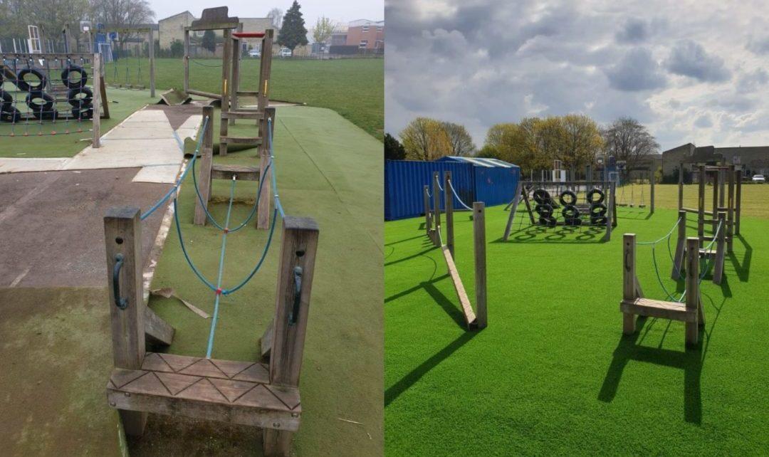 Artificial Grass - Before & After