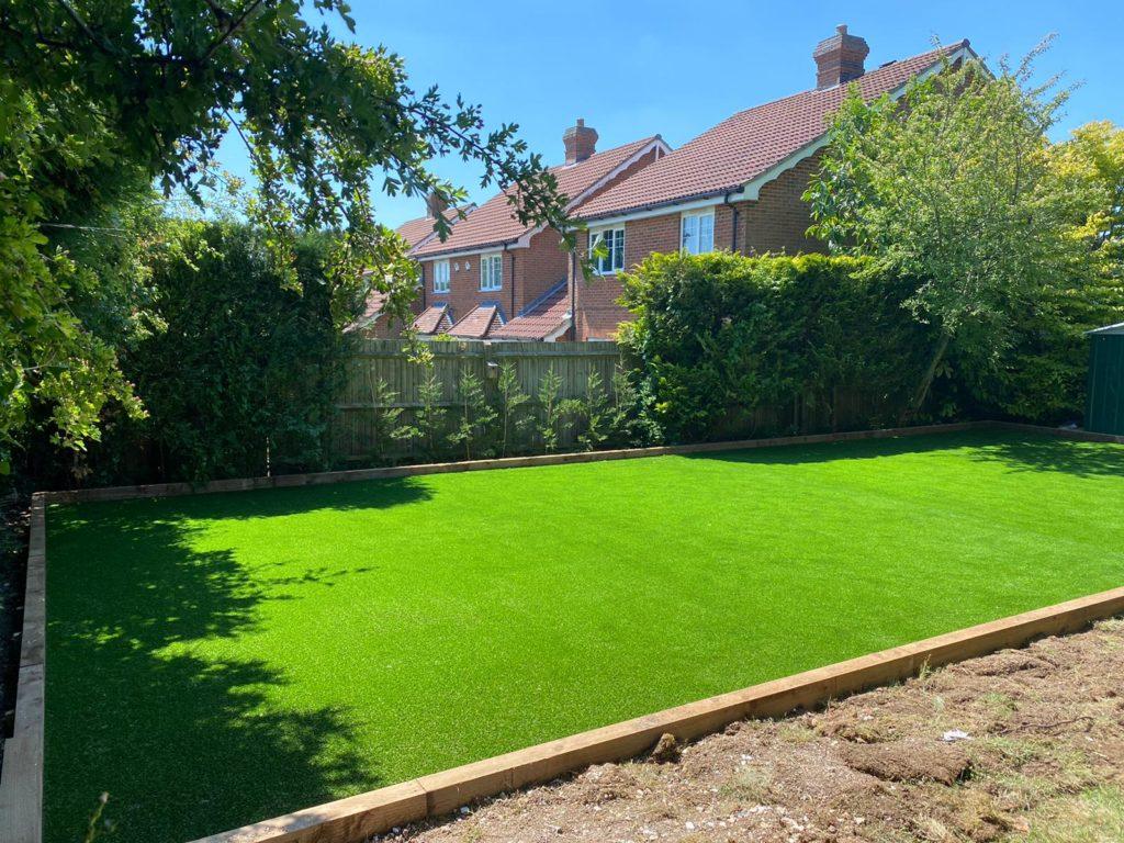 Artificial grass installation Basingstoke