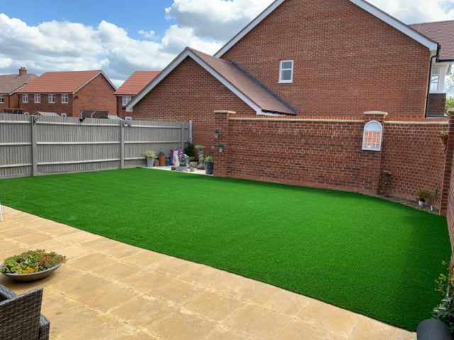 Lawn and patio 1