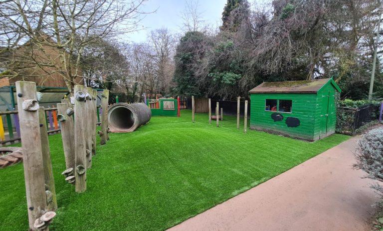artificial grass play equipment