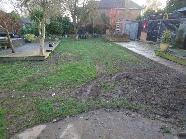 Large garden artificial grass transformation 4