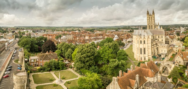 View over Canterbury