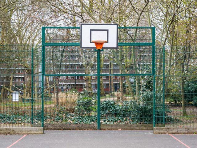 basketball court fence