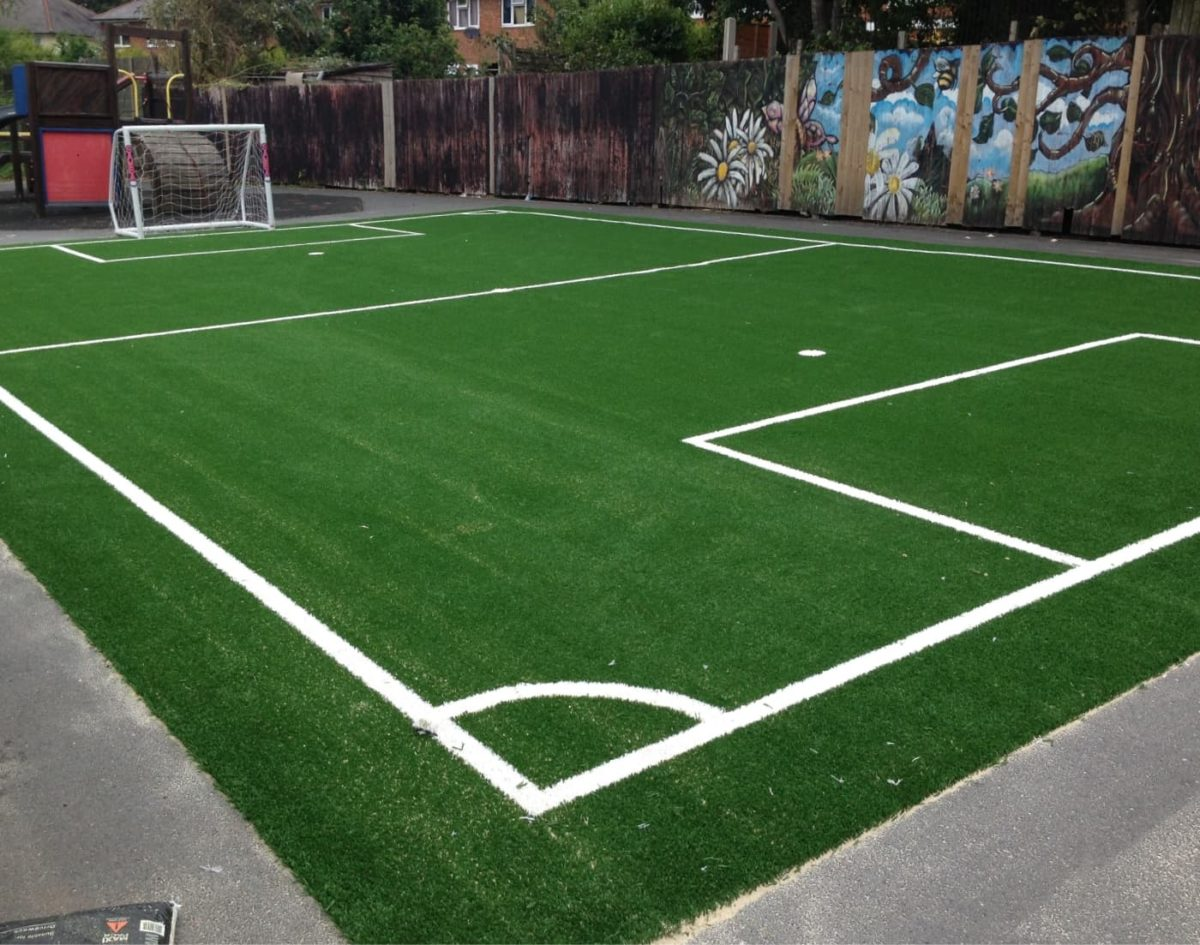 small football field scaled