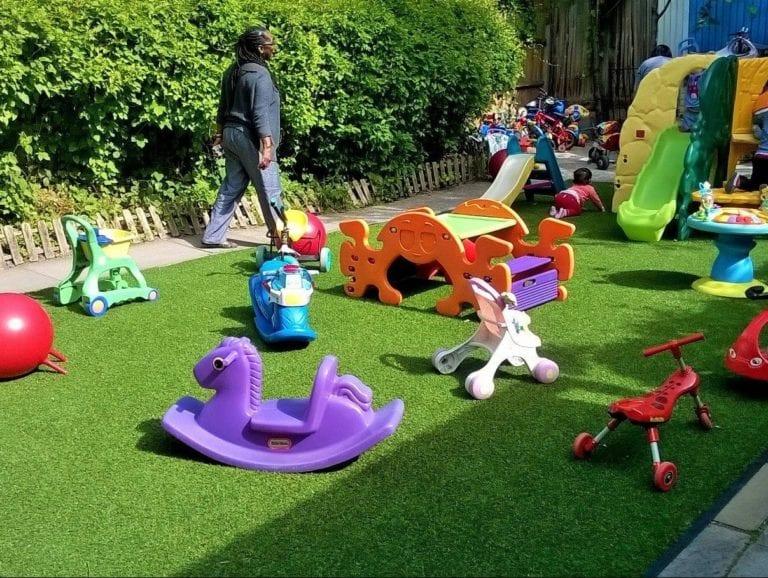 artificial nursery play area
