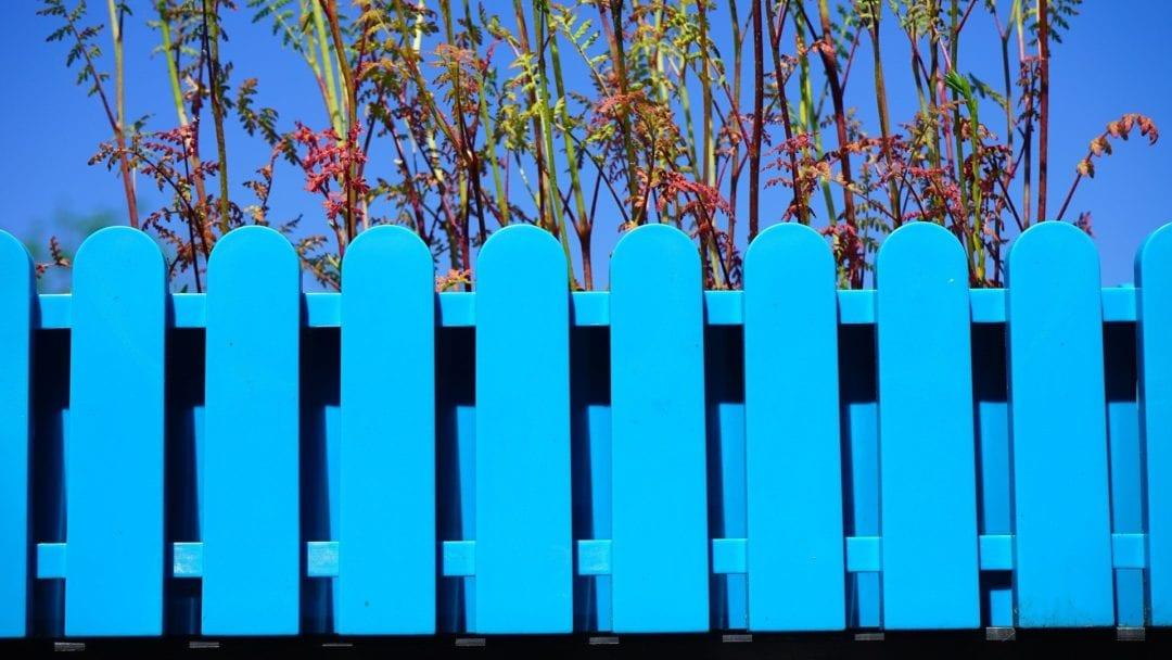 bright garden fence