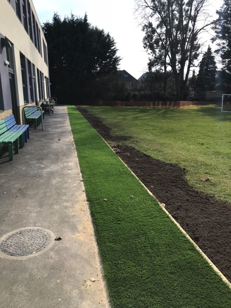 St Lawrence CofE Junior School artificial grass trulawn