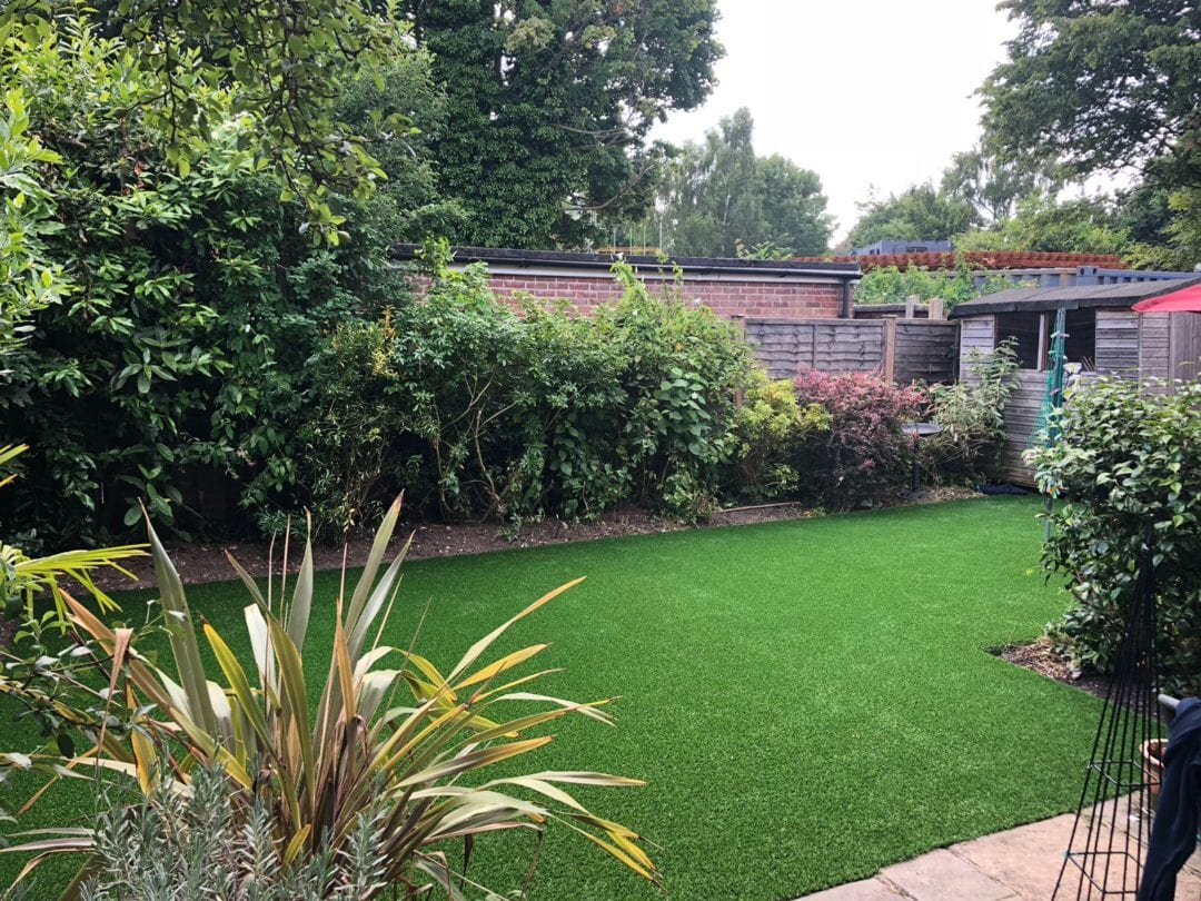 Artificial Grass garden transformation