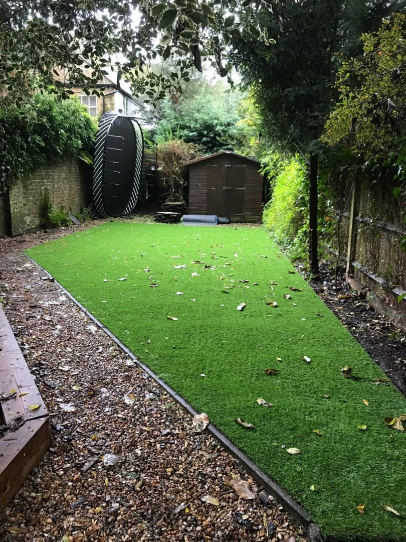 family friendly artificial grass installation
