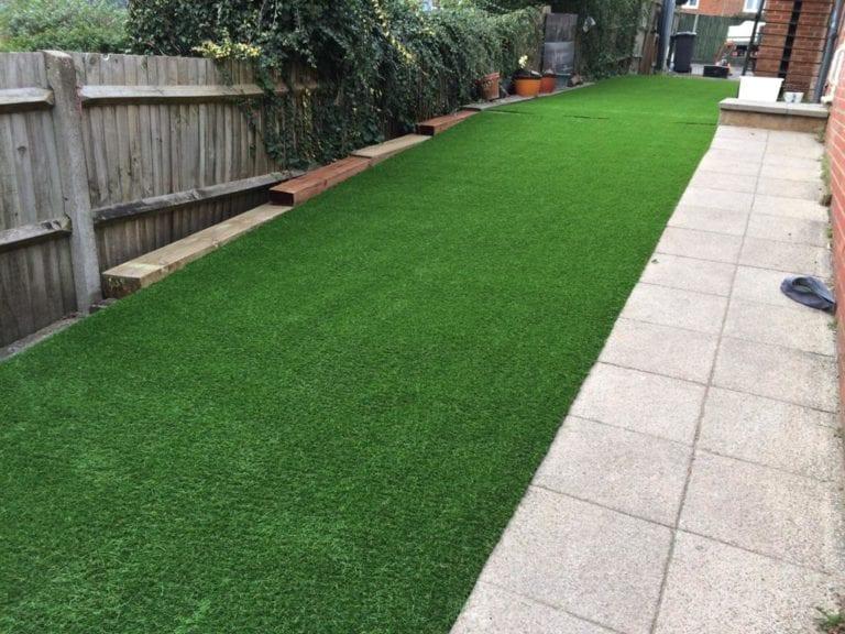artificial grass kindergarten installation