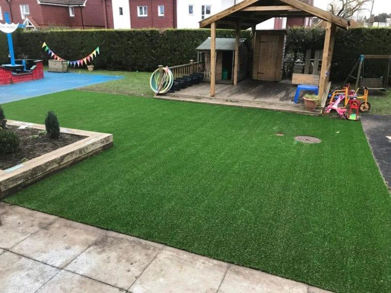 Cranleigh Nursery grass installation