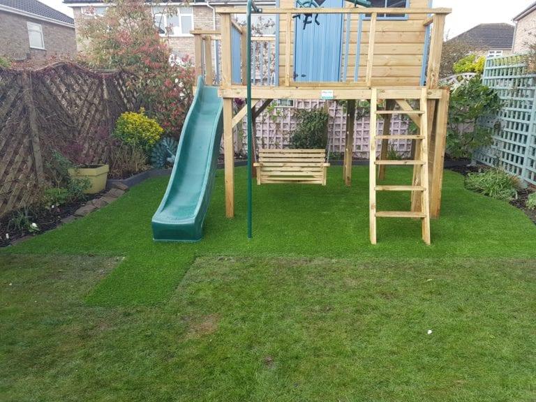 artificial garden play area