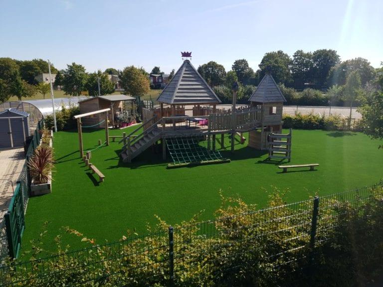 artificial school installation in cambridgeshire