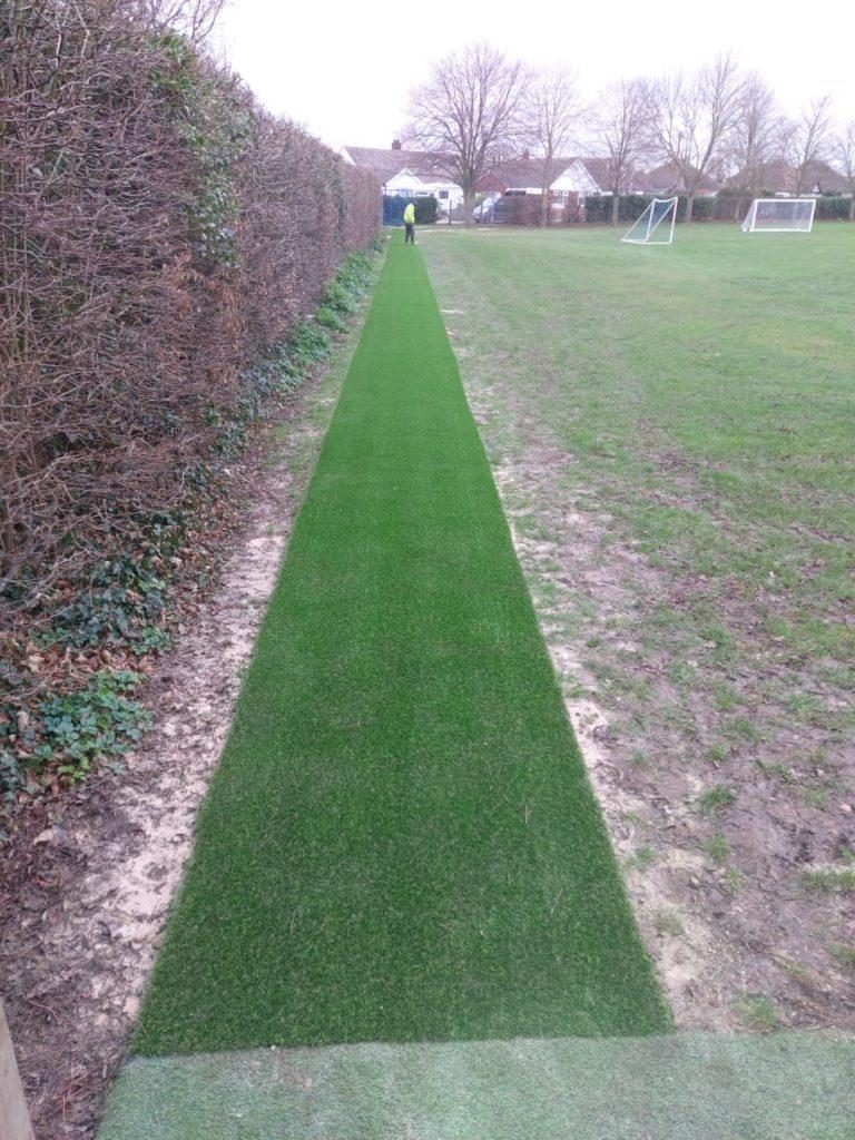 fake grass running track