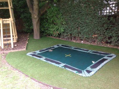 Keeping your trampoline area green