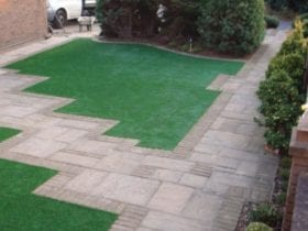 Artificial Grass with Tiles