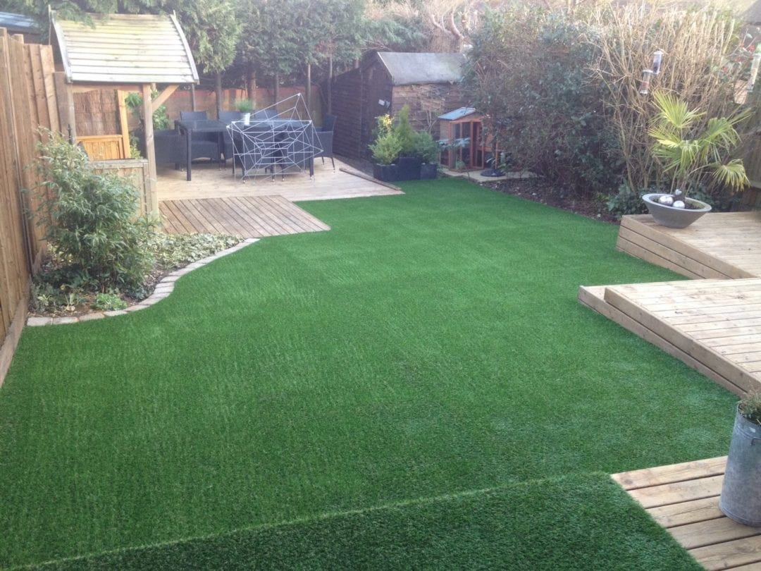 love the look artificial grass and decking 2 trulawn. Black Bedroom Furniture Sets. Home Design Ideas