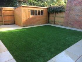 Pristine grass and patio