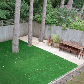 Carefree no hassle gardens trulawn for No maintenance backyard