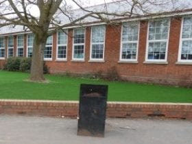 School with Artificial Grass