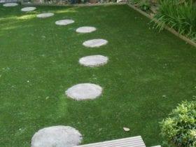 Example of path in artificial grass garden