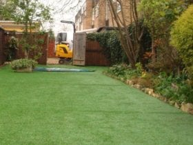 Clean artificial lawn