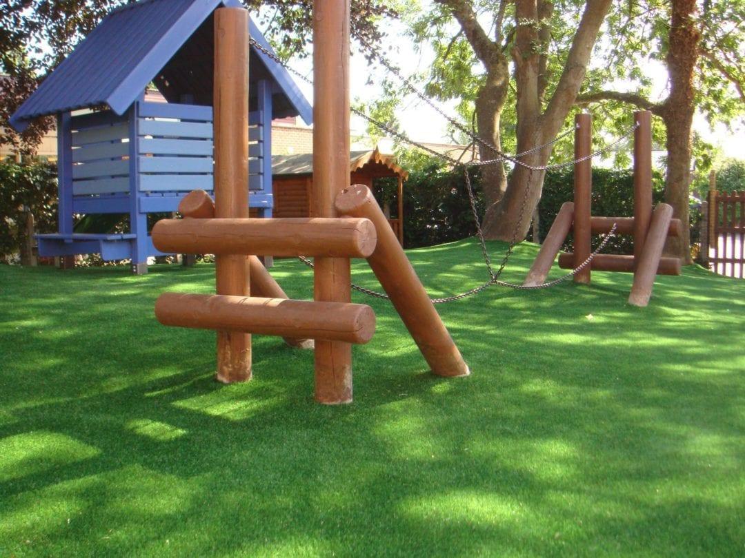 pre-school artificial grass installation
