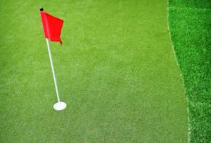 Perfect Putting Green with Artificial Lawn