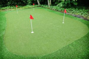 Home Putting Green with Artificial Turf