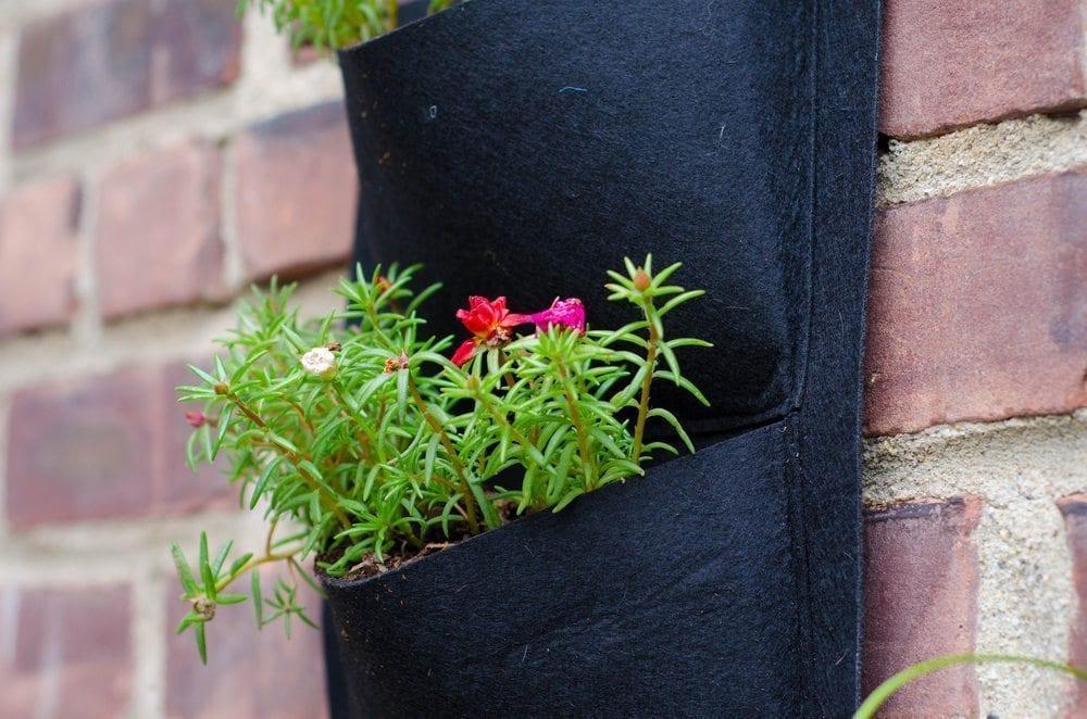 vertical gardening pockets